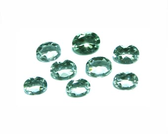 AMEG002 Amethyst (8 pc Oval Mix) Green Gemstone by Opal Outlet