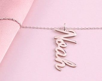 Pink Box 3D Vertical Bar Inspirational Necklace Multiple Colors Available Silver All Things GO Through HIM