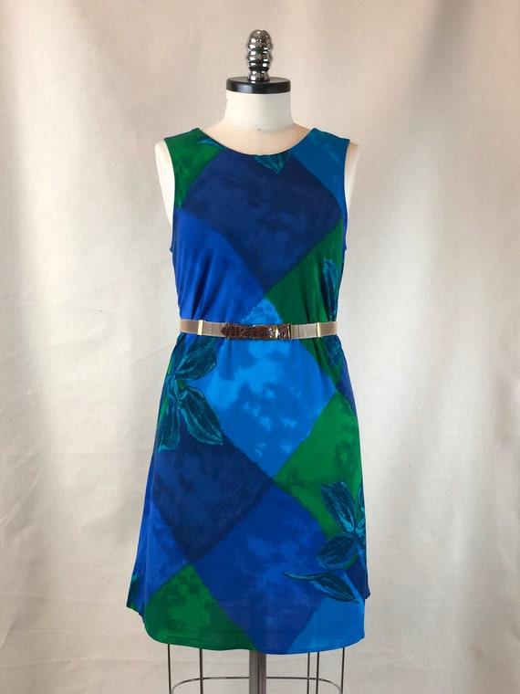 Blue Diamond Tank Dress