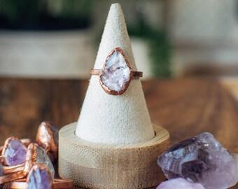 AMETHYST Ring | Alternative Raw Crystal | Birthstone Jewelry