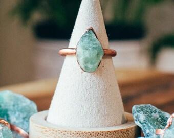 Aventurine Ring | Alternative Raw Crystal | Birthstone Jewelry