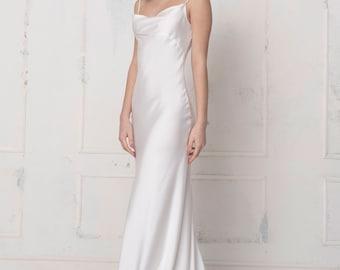 Slip Wedding Dress Etsy,Can You Add A Train To A Wedding Dress