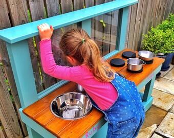 Mud Kitchen, Double Art Easel, Free Planter Box