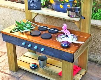 Mud Kitchen, Colour Worktop Option,Chalkboard, Recipe & Name Bundle