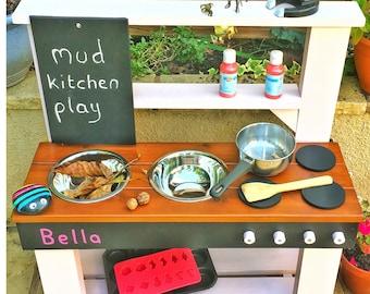 Mud Kitchen, Play Kitchen, COLOUR options, Free chalkboard,