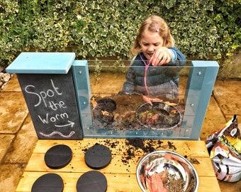Mud Kitchen, Wormery, Chalkboard, Colour Options, Utensils