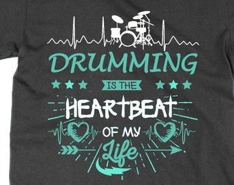 Life Is A Game DRUMMING Is Serious T-SHIRT joke funny drummer drums musician