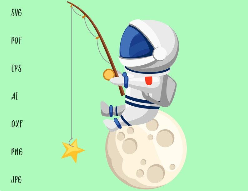 Download Astronaut Art Svg Files For Cricut Space Fishing Moon Astronaut Svg Space Astronaut Clipart Svg Vector Cameo An0306 Astronaut Png Art Collectibles Digital Vadel Com
