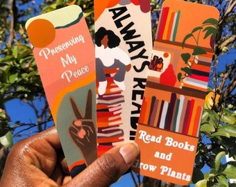 3 Pack Bookmarks |African American Gifts | Plants and Books | Bookish| Black Women Gifts | Well Read Black Girl| Black Owned| Gift for Her