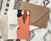 """Motherhood African American Greeting Card