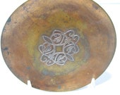 PG 7 Heintz Metal Silver on Bronze Trinket or Pin Dish Arts and Crafts