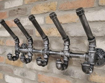 Industrial Style Pipe Coat Hooks Steel Pipe Fitting Steampunk Vintage Home Decor