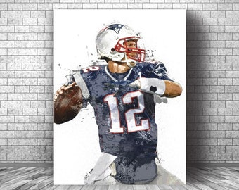 """New England Patriots Poster Banner 30/"""" x 8.5/"""" Personalized Custom Name Printing"""