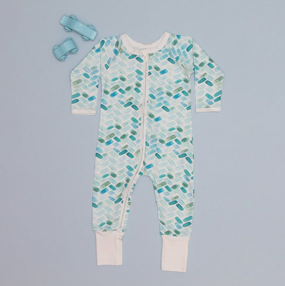 Girls and Unisex Two-Way Zips Outfits Open or Closed Feet Little Zips Boys