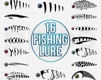 Fishing Lure Svg Etsy