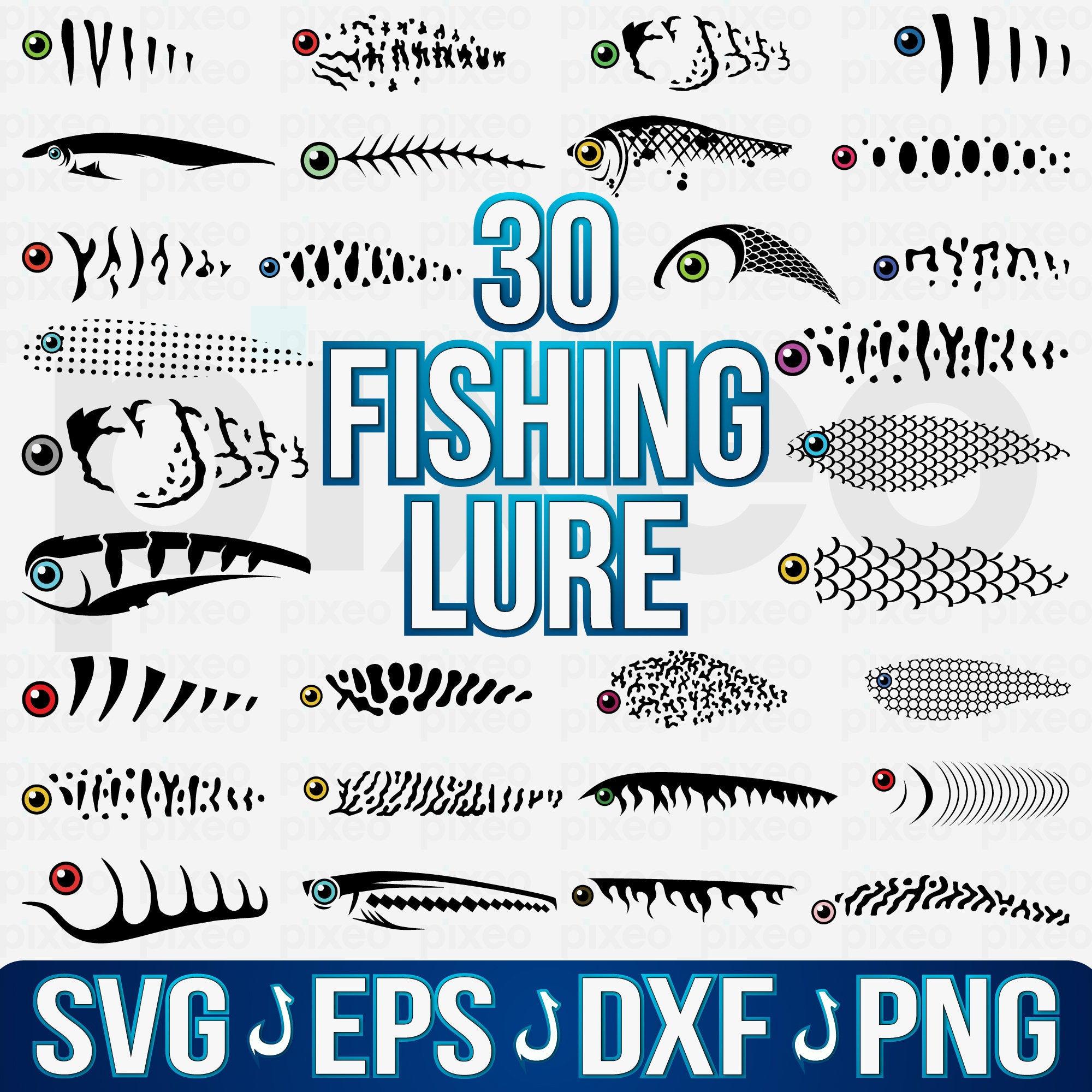 Fishing Lure Svg Fishing Lure Pattern Svg Fishing Lure Etsy