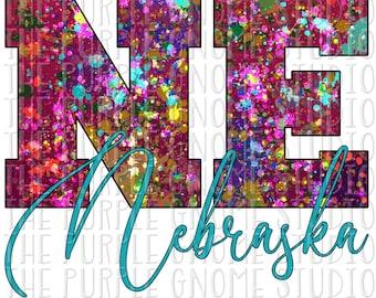 Nebraska, United States, USA, Sublimation, PNG File, Digital File, 300DPI, Instant Download