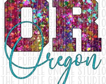 Oregon, United States, USA, Sublimation, PNG File, Digital File, 300DPI, Instant Download