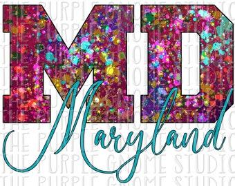 Maryland, United States, USA, Sublimation, PNG File, Digital File, 300DPI, Instant Download