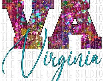 Virginia, United States, USA, Sublimation, PNG File, Digital File, 300DPI, Instant Download