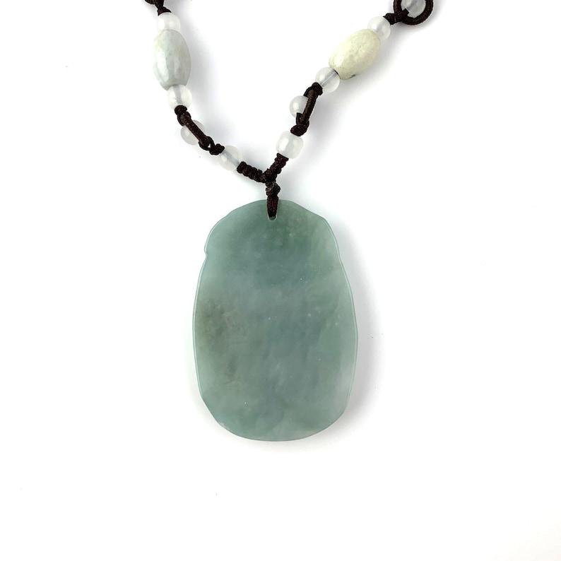 Jadeite Jade Dragon Zodiac Carved Necklace