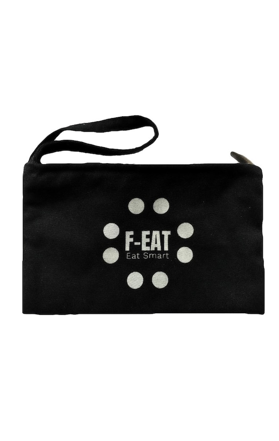 Black Cotton Bag and Organiser for Make Up, Keys, Phone and Money