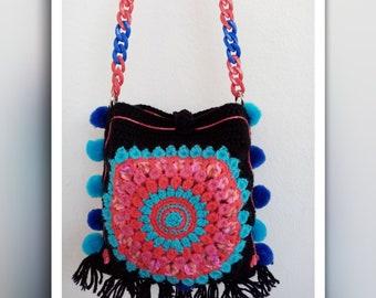 Bohemian bag crochet bag