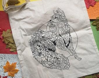 Foxy Guide tote bag - fantasy art - Cottagecore - fox - Sophiralou