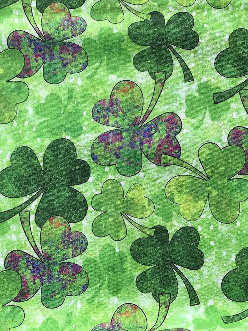 St. Patrick's Day Green Shades of Clover Shamrocks 100% image 0