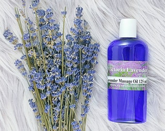 Luxury lavender massage oil. 125 ml (vegan)
