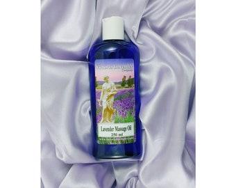 Luxury lavender massage oil. 250ml (vegan)
