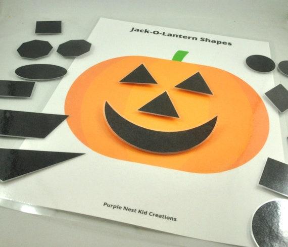 Jack-O-Lantern Shapes Printable Activity Halloween Activity