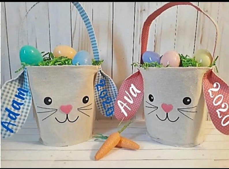 Cute personalized Easter Baskets