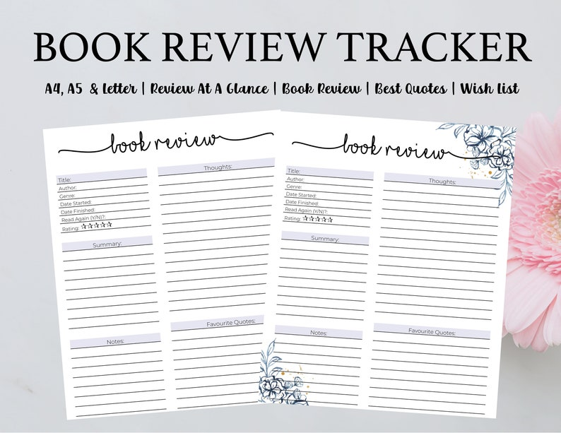 Book Review Tracker