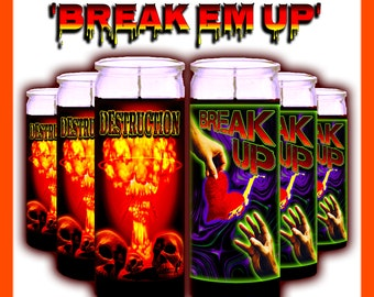 BREAK 'EM UP Ritual Candle Set - Witchcraft Set, Witch Set, Beginner Witch Set, Cursing Spell, Breakup Spell, Hexing Spell, Curse, Witchy