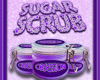 OBSESSION Emulsifying Sugar Exfoliating Body Scrub, Body Exfoliator, Sugar Scrub, Sugar Exfoliator, Skin Exfoliator, Skin Scrub, Manifest