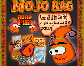 MOJO BAG - Road Opener for New and Better Opportunities in Life, Gris Gris, Poppet, Charm Bag, Spell Bag, Witchcraft, Hoodoo, Voodoo, Wicca,