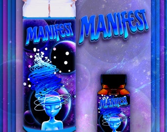 MANIFEST Spell Candles, Ritual Oils, and Spell Kits, Manifest abundance, Witchcraft, Altar Supplies, Manifest Candle, Manifest Witch Kit