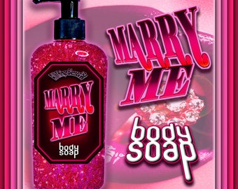MARRY ME Body Wash, marriage soap, Shower Gel, body soap, Bath Soap, wedding gift, Liquid Soap, Shower Soap, Witch soap, commitment spell
