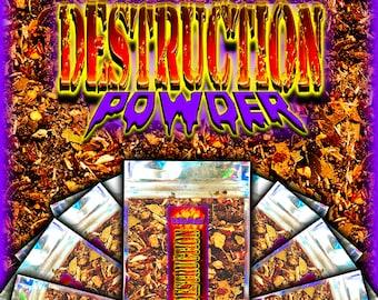 DESTRUCTION POWDER Curse Powder Hex Powder DUME Powder Hoodoo Powder Sachet Powder Spell Powder Witchy Spells Witch spell Voodoo Spell Witch