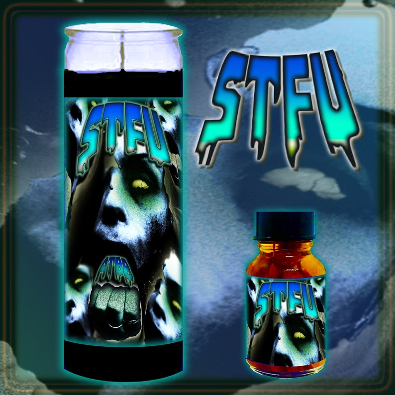 STFU Shut the Fk Up Spell Candle Witch Oil or Spell Kit Candle/Oil Kit