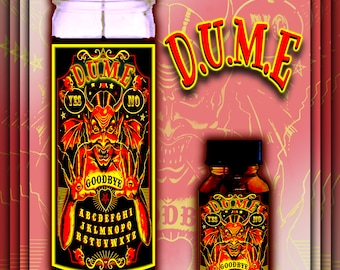 DUME Spell Candles, Witch Oils, Spell Kits, Spell kit, Witch Kit, Witches Kit, Witchcraft, Witch Spell, DUME Spell, Baby Witch Kit, D.U.M.E