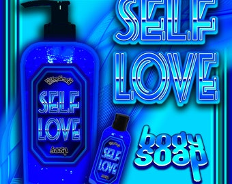 SELF LOVE Body Wash, Sugar Daddy Soap, Shower Gel, body soap, Bath Soap, self esteem, Liquid Soap, Shower Soap, Witch soap, self empowerment