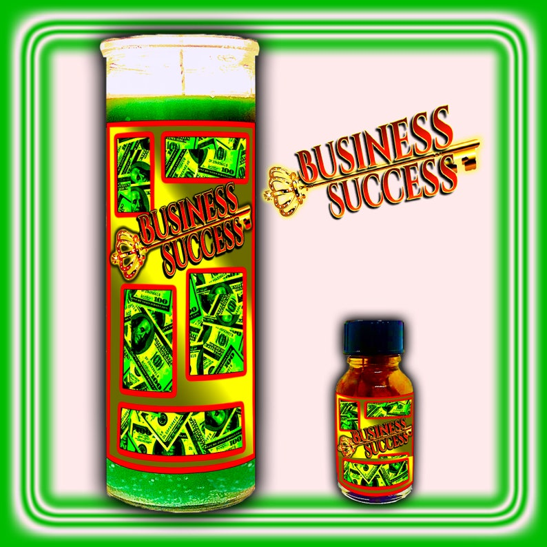 BUSINESS SUCCESS 7-Day Ritual Candle Oil and Kit  Hoodoo Candle/Oil Spell Kit