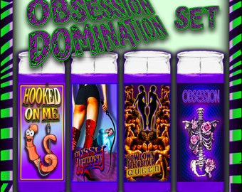 OBSESSION/DOMINATION Spell Candle Gift Set, Witch Kit, Witches Kit, Baby Witch Kit, Candle Set, Candle Kit, Witch Spell, Witch Shop, Witches