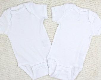 Blank Plain White Newborn Infant Baby Toddler Bodysuit for DIY Crafts Crafting soft 100/% cotton