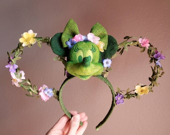 Floral Topiary Mickey Minnie Mouse Ears