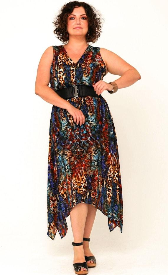 Dusty Silk Crepe Skirt in Electric Leopard Print