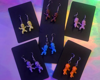Human baby and Alien baby earrings
