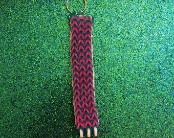 Loom Keychain - Pink and Blue Jelly